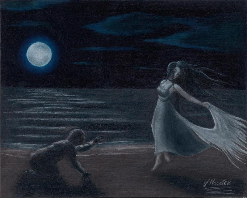 Edgar Allan Poe and Annabel Lee Dolls